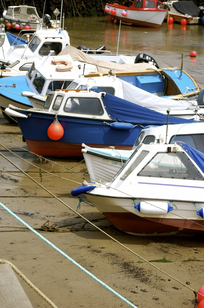 West Bay boats, Dorset