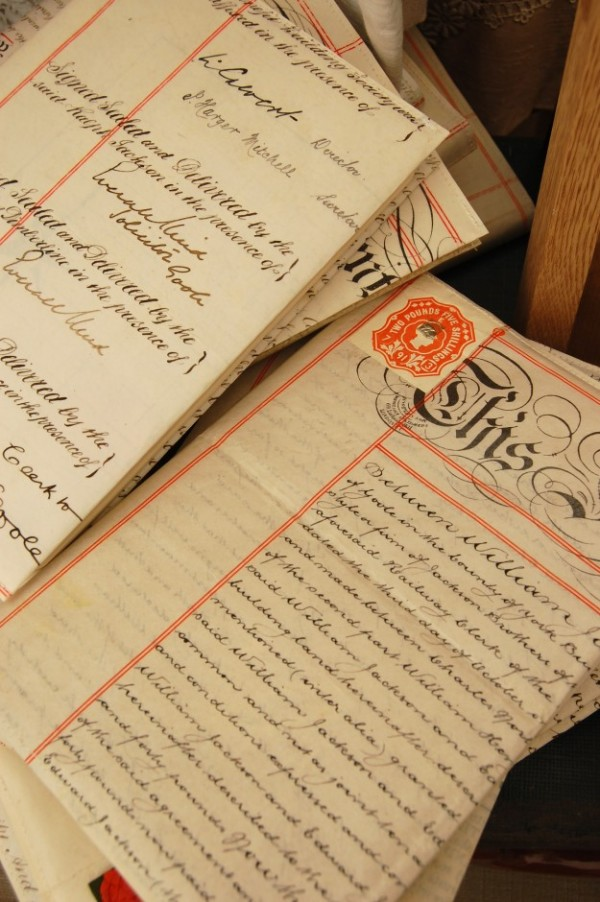 Indenture Notebooks~Home Front Vintage