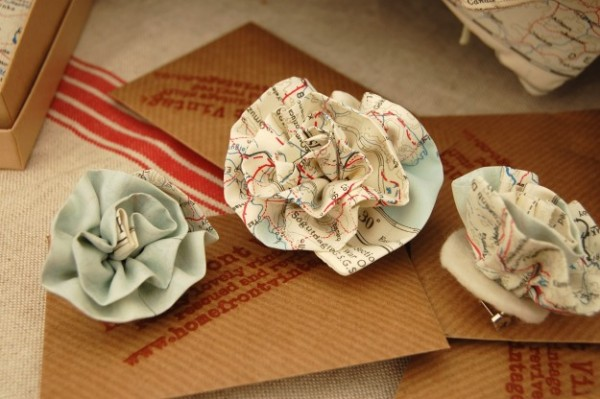 Map Hairslides~Home Front Vintage