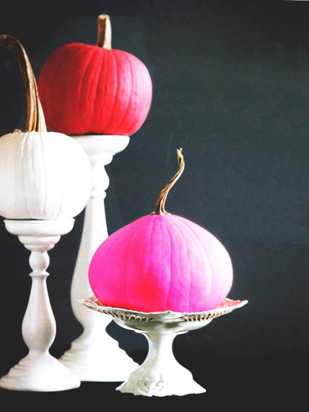 painted pumpkins via design milk