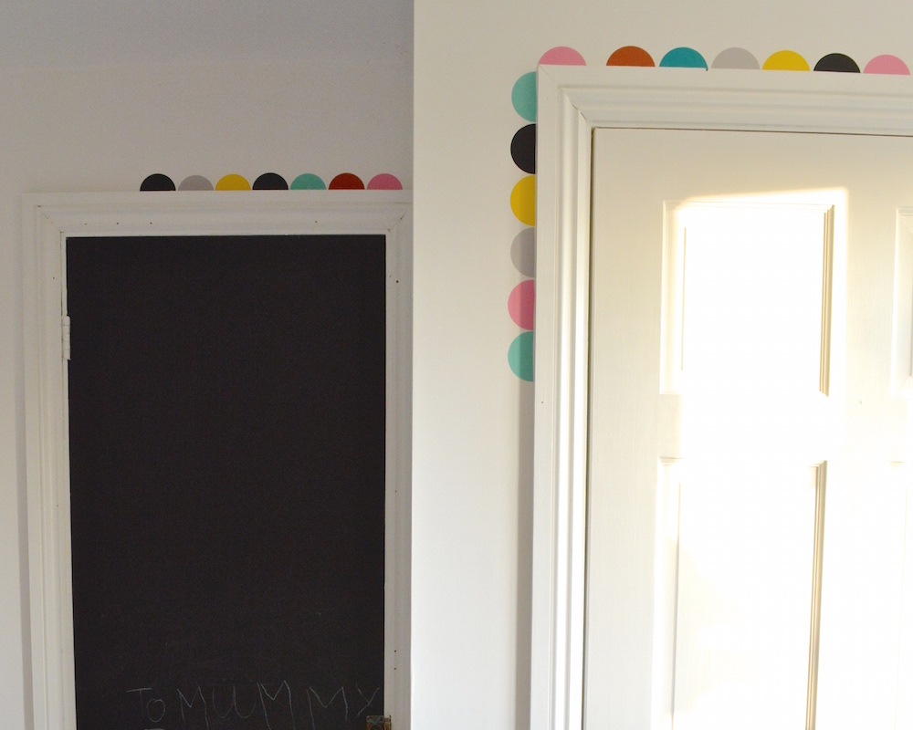 adding colour pops to monochrome kids room