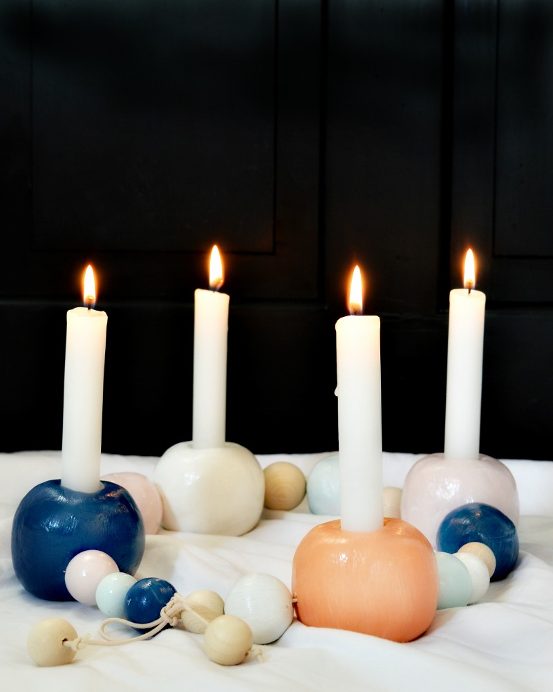 Ferm Living inspired DIY candle string advent candle