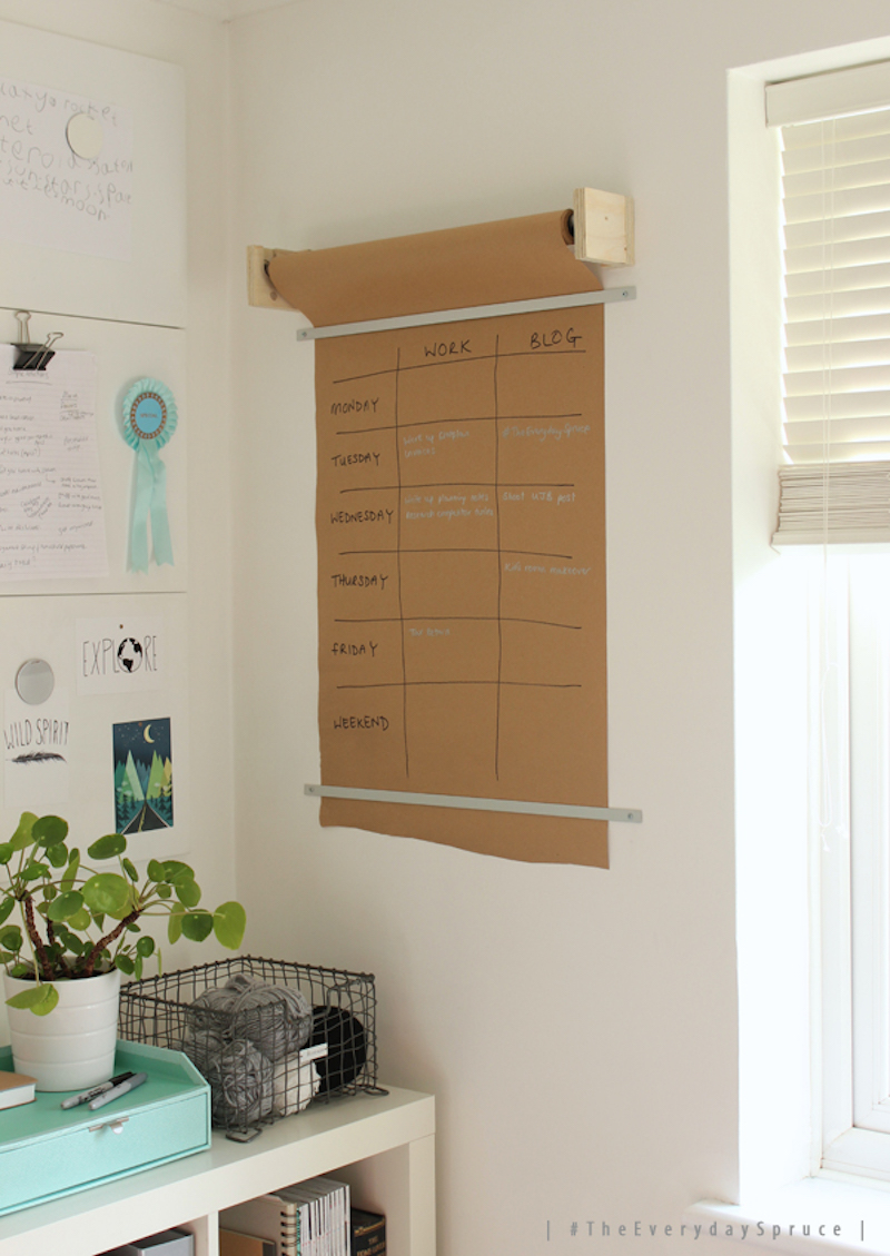 #TheEverydaySpruce diy wall planner - Growing Spaces