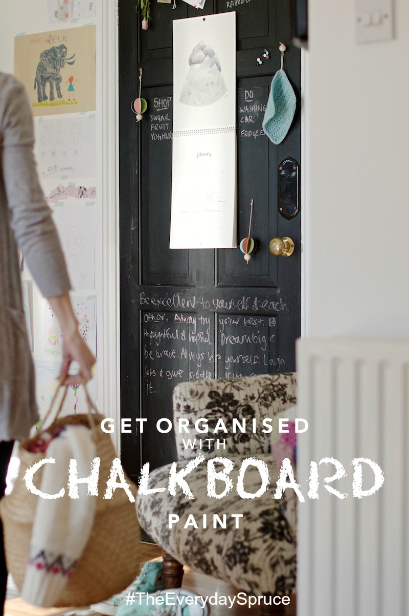 get organised with chalkboard paint
