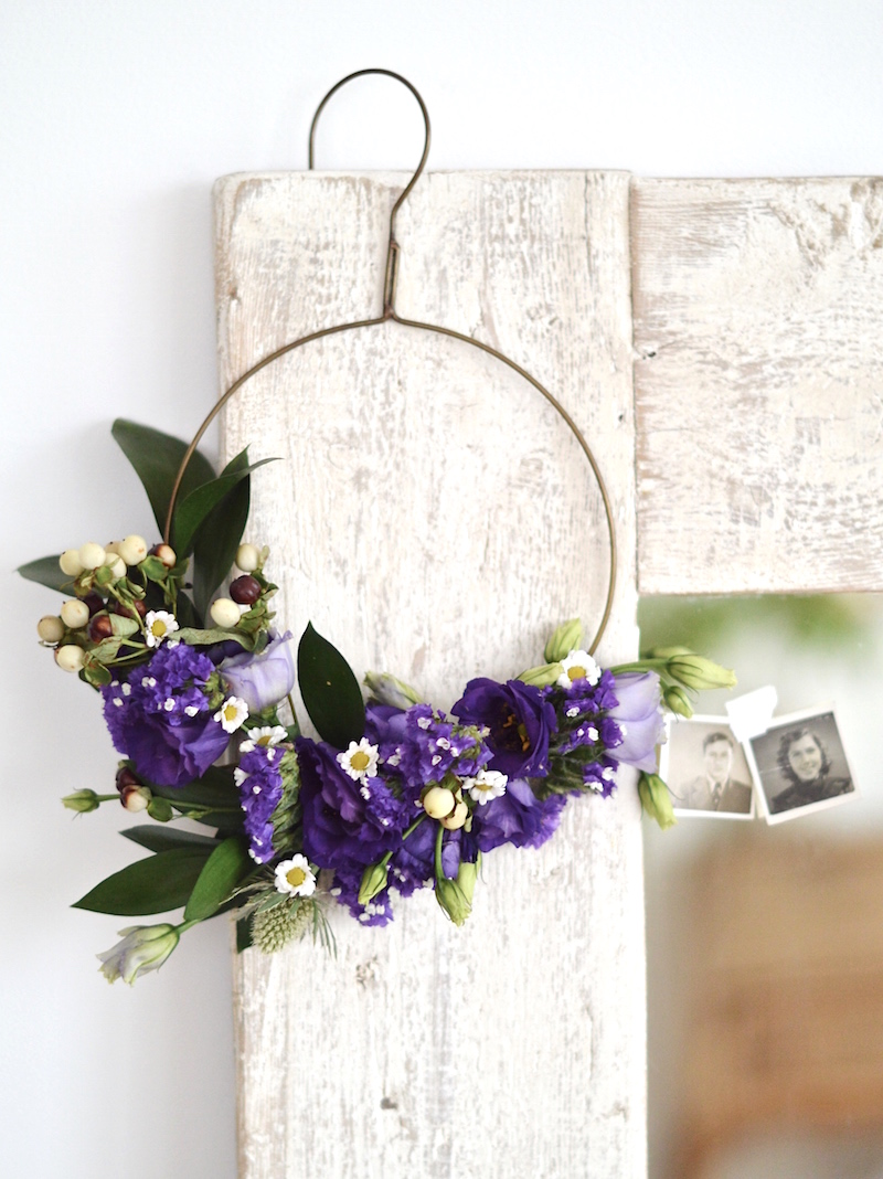 Styling Spring At Mine wire flower hanging wreath styling the seasons