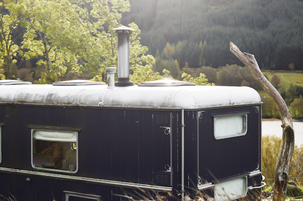 the Pilot Panther, a converted showman's wagon at the Monachyle Mhor Hotel, part of the Canopy & Stars Collective