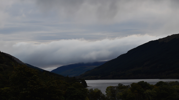 Evening clouds over the Highland Glen at Balquhidder