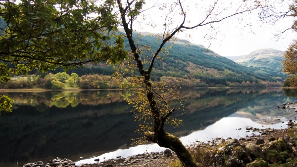 On a calm day, the Loch is like a mirror. Perfection!