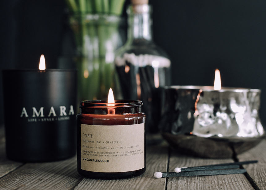 scented candles hygge